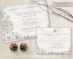 winter wedding invitation set printable snowflake winter