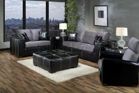grey fabric modern living room sectional sofa w wooden legs grey fabric black vinyl modern sofa and loveseat set w options