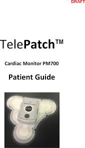 pm700 ble pendant user manual medicomp inc