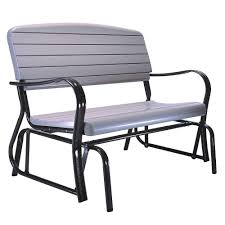 Porch Glider Swings Lifetime Outdoor Patio Glider Bench 2871 The Home Depot