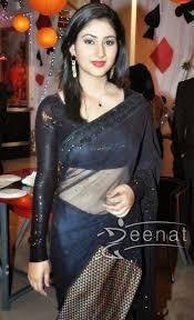 south indian disha parmer in transparent black saree