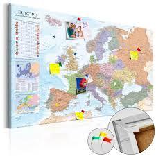 Cork World Map by Fabric Pin Board World Maps Europe Cork Map Decorative Pinboards