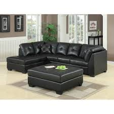 furniture inviting black accent leather sectional tufted sofa
