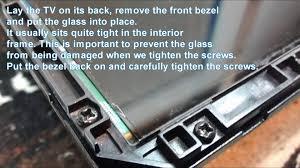 replacing led lights in tv easy diy led tv backlight repair youtube