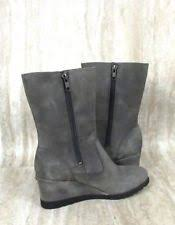lyst ugg uptown emalie leather wedge boots in black ugg australia leather zip wedge boots for ebay
