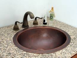Hammered Copper Bathroom Sink Mounted Pmcshop