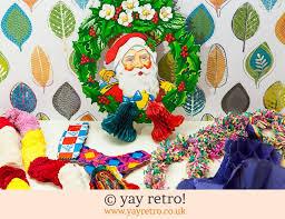 Retro Paper Christmas Decorations - vintage paper xmas decorations 1950 60s vintage shop retro