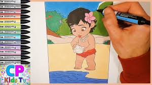 moana coloring pages for kids part 5 moana coloring pages fun