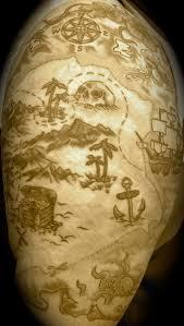 Map Tattoos Pirate Treasure Map Tattoos