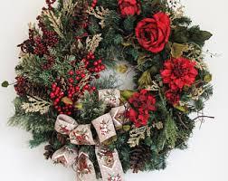 outdoor wreath etsy