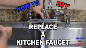 how to replace a kitchen sink faucet 20 steps with pictures