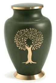 tree of solid brass urn