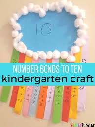 number bonds to ten rainbow craft simply kinder