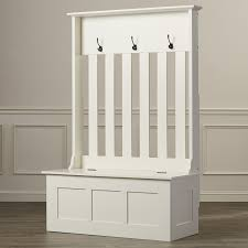 details about white wooden hall tree entryway bench coat rack hat