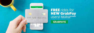 free debit cards free rides up to rm15 each for new grabpay credit debit card