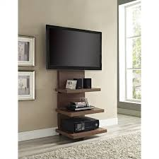 hollow core mount tv stand in walnut 1186196