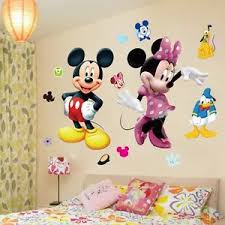 mickey mouse minnie vinyl mural wall sticker decals kids nursery