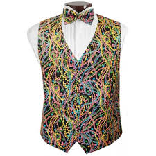 mardi gras ties bal masque mardi gras vest and bow tie
