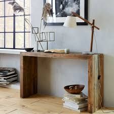 Wooden Console Table Emmerson Reclaimed Wood Console West Elm