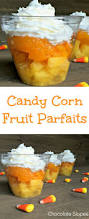 candy corn fruit parfaits chocolate slopes