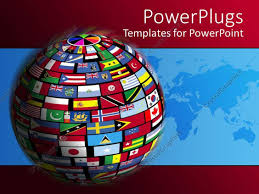 Flags Of All Nations Powerpoint Template Country Flags Cover The World For All Nations