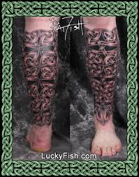 shin guard u0027 body armor celtic tattoo u2014 luckyfish inc and tattoo