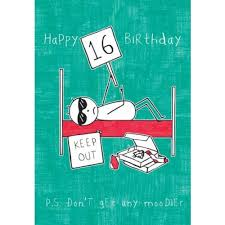 purple ronnie happy 16th birthday card party bags and supplies
