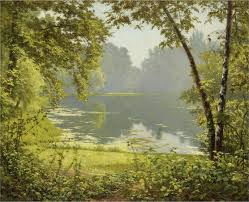 file henri biva tranquility oil on canvas 61 x 74 cm signed