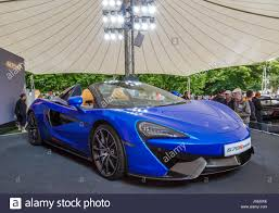 2017 mclaren 570s spider being exhibited on static display at the