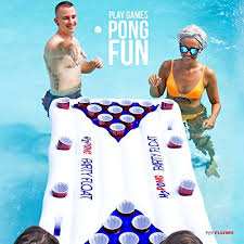 Pool Beer Pong Table by H2pong Inflatable Beer Pong Table Float Includes 5 Ping Pong Balls