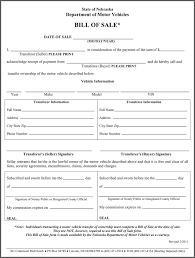 nebraska bill of sale form download free u0026 premium templates