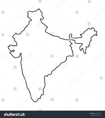 Pune India Map by Black Outline India Map Stock Vector 260248670 Shutterstock