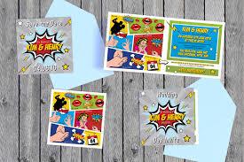 superhero wedding invitations free custom invitation template