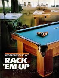 build a pool table build pool table woodworking plans and projects woodarchivist