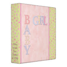 baby girl scrapbook album baby girl scrapbook albums custom binders zazzle