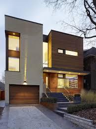 Home Design For Narrow Land Modern House Exterior Design Front Door Ideas Wood Facade Wooden
