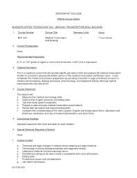 medical transcription resume samples resume samples and resume help