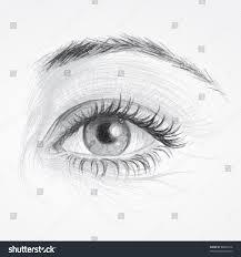 eye realistic sketch beautiful woman eye stock vector 80890216