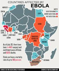 west africa map ebola ebola outbreak affects cus education in west africa the daily