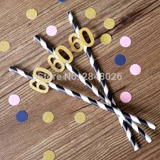 60th birthday party decorations sixty party straws 60th birthday glittered party straws birthday