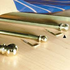 Sash Rod Curtains Sash Curtain Rod With L Hook In Brass Material Hexagonal