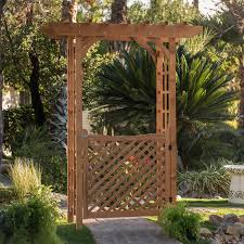 gardman savannah 8 ft steel arch arbor with gate hayneedle