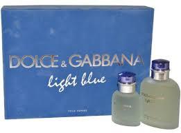 light blue fragrance gift set dolce gabbana light blue 125ml edt 2 pcs gift set for men