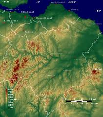 Colorado Elevation Map by Topographic Map Of Scottish Borders And Lothian Maps Pinterest