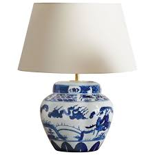kraakware ceramic chinese table lamp oka