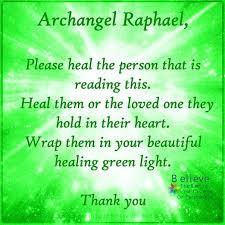white light healing prayer archangel raphael universal prayers