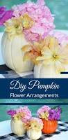 flower centerpieces diy pumpkin flower arrangements happy family blog