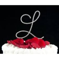 l cake topper rhinestone monogram cake topper i do monogram cake