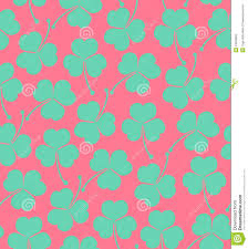 Cute Wallpaper by Seamless Cute Pattern With Clover Trefoil Endless Background
