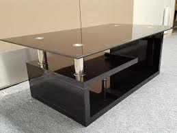 furniture fabulous glass computer desks for home black glass